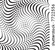 vector halftone wave shape for backgrounds and design - stock vector