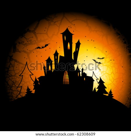Vector Halloween background - stock vector