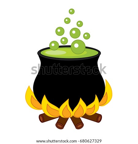 Magic Cauldron Halloween Accessory Object Stock Vector 324769187 ...
