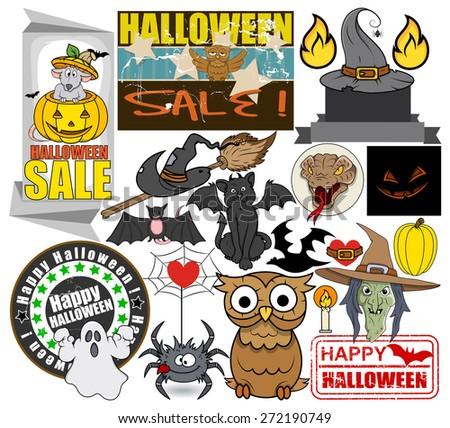 Vector Halloween Graphics - stock vector