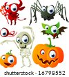 vector halloween set 3 - stock photo