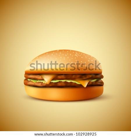 vector hamburger illustration - stock vector