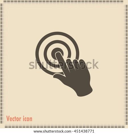 Vector hand cursor vector icon - stock vector