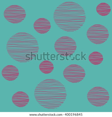 vector hand drawing illustration of circle on dark background. good for your banner, card,textile