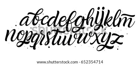 Vector Hand Drawn Alphabet Lettering And Custom Typography For Your Designs Logo