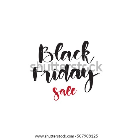Vector hand drawn banner - Black friday sale. Calligraphy text  isolated on white background. Shopping background