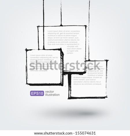 Vector hand drawn design element - stock vector