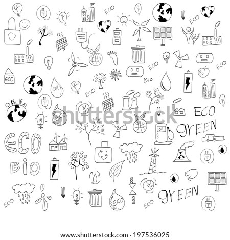 Vector hand drawn design elements  - stock vector