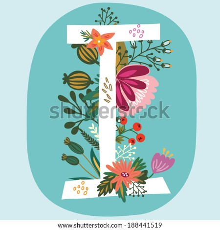 O Alphabet Wallpaper with vintage amazing flowers! Letters