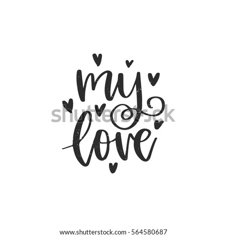Vector Hand Drawn Greeting Card My Stock Vector 564580687