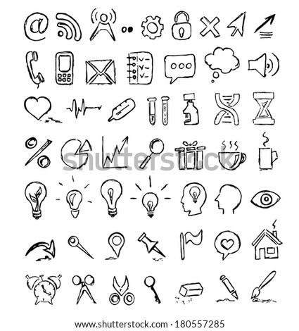 Vector Hand-Drawn Icons Set
