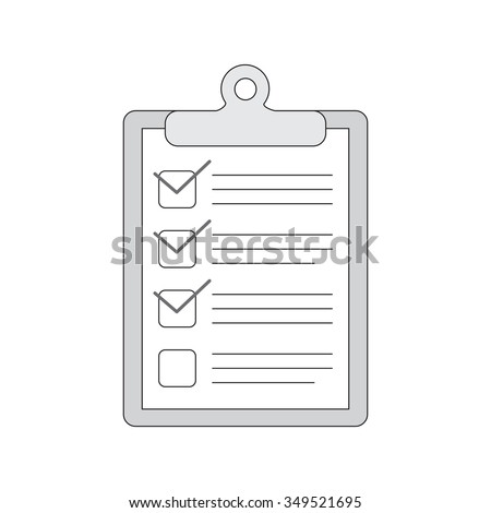 Vector hand drawn notebook with to do list. Check boxes sketch. - stock vector