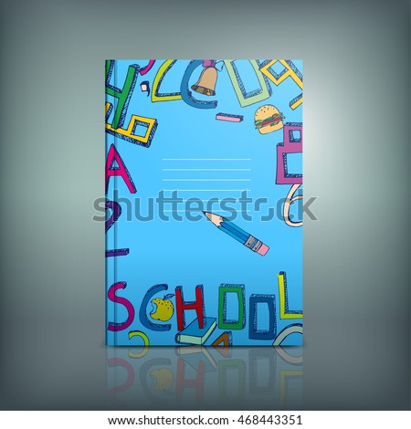 school book template