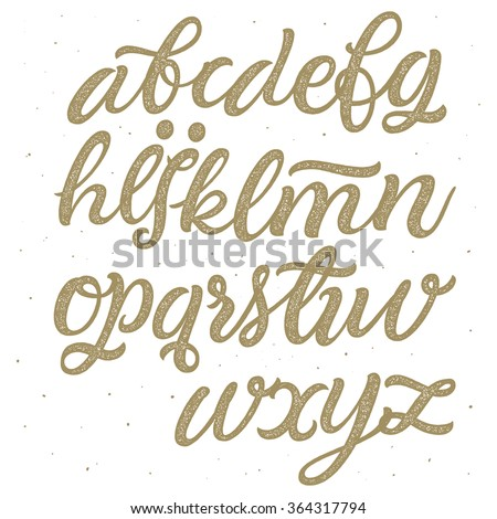 hand drawn lettering vector script typeface brush stock vector 12074 | stock vector vector hand drawn script typeface brush painted alphabet hand lettering and custom typography for 364317794