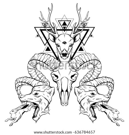 surrealism coloring pages | Vector Hand Drawn Surreal Illustration Animals Stock ...