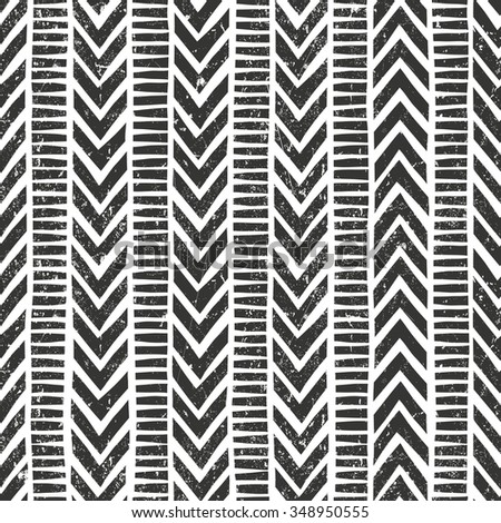 Vector hand drawn tribal pattern. Seamless geometric background with grunge texture. EPS10 vector illustration. Contains no transparency and blending modes.