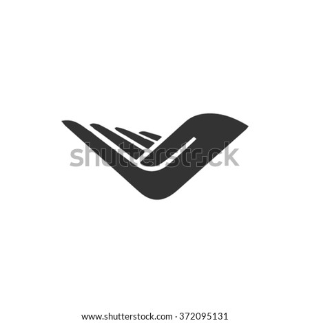 Vector Hand Flat Icon - stock vector