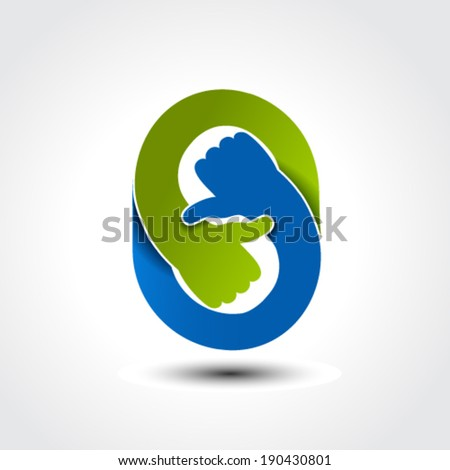 Vector hand gesture - thumb up, thumb down - stock vector