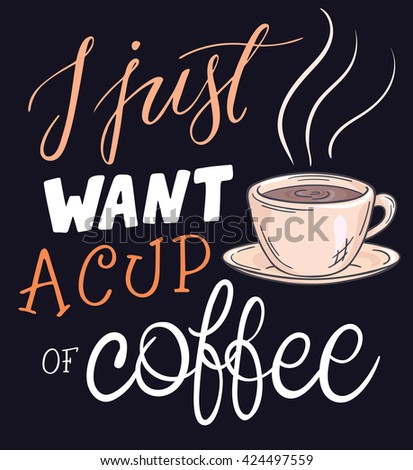 Blackboard Quote About Coffee Stock Vector 365230046 ...