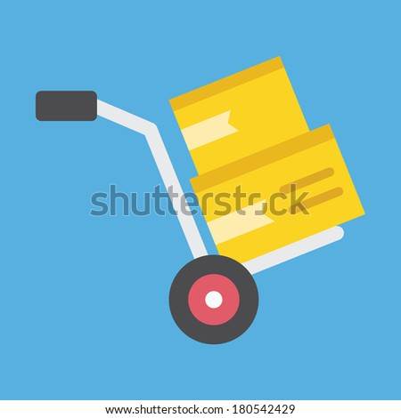 Vector Hand Track Icon - stock vector