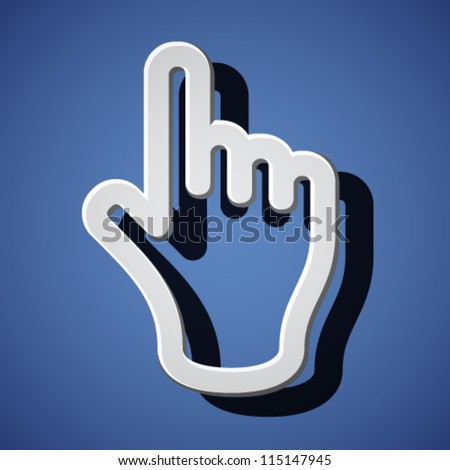 vector hand with warning forefinger symbols - stock vector