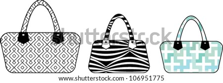 vector handbag accessory illustration - stock vector