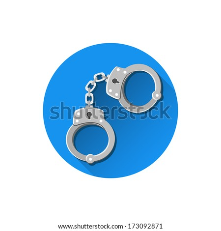 Vector Handcuffs Icons - stock vector