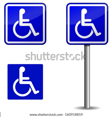 Vector handicap sign on white background - stock vector