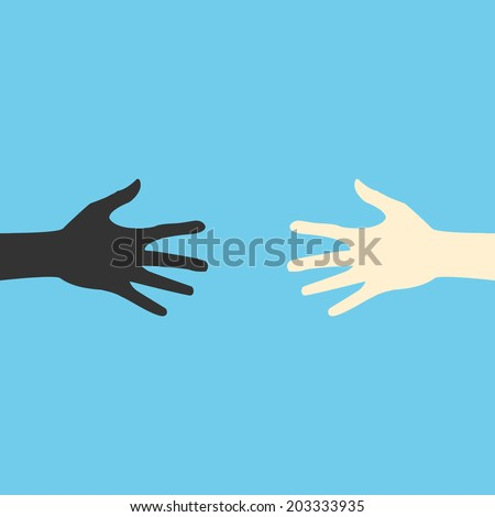 Vector hands. color abstraction eps. - stock vector