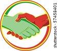 vector handshake - stock photo