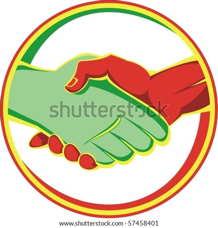 vector handshake - stock vector