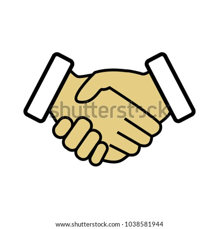 vector handshake icon business icon make stock vector 1038581944 rh shutterstock com handshake vector icon free vector handshake free download