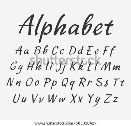 Set Uppercase Lowercase Fonts Figures Collection Stock Vector ...