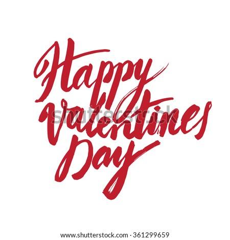 Vector handwritten calligraphy sign - Saint Valentine's Day - stock vector