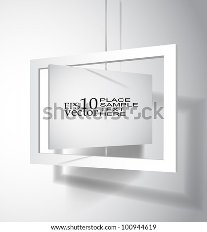 Vector hanging board template - stock vector