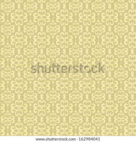 Vector Hanging Flower Seamless Pattern Background