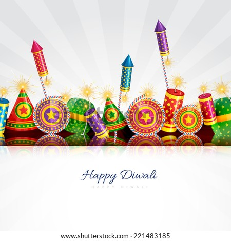 Vector happy diwali card - stock vector