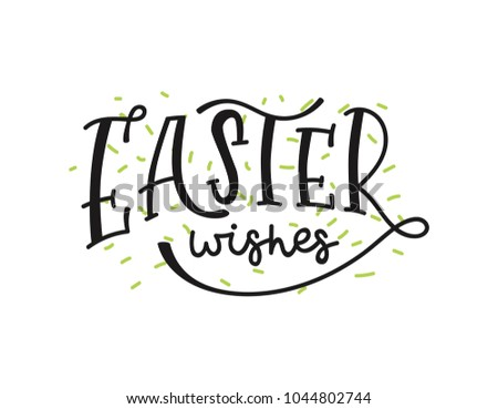 Vector happy easter lettering phrases quotes stock vector hd vector happy easter lettering phrases and quotes hand drawn modern calligraphy for poster greeting m4hsunfo