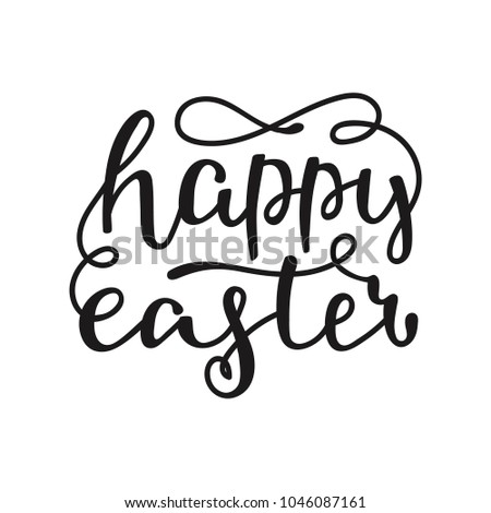 Vector happy easter lettering phrases quotes stock vector 1046087161 vector happy easter lettering phrases and quotes hand drawn modern calligraphy for poster greeting m4hsunfo