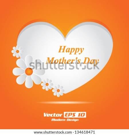 Vector happy mothers day card / brochure design - stock vector