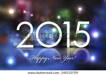Vector 2015 Happy New Year background - stock vector