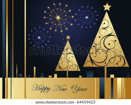 Vector Happy New Year background - stock vector