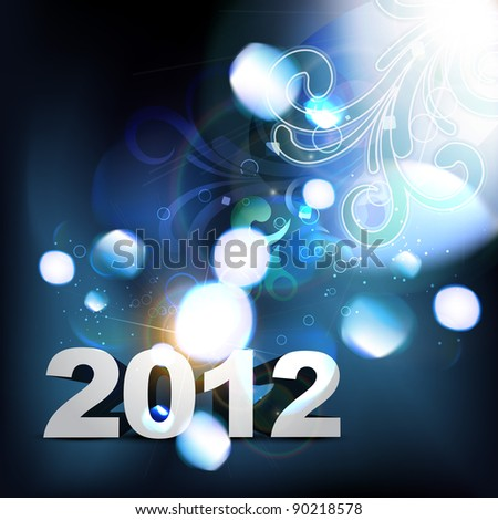 vector 2012 happy new year background