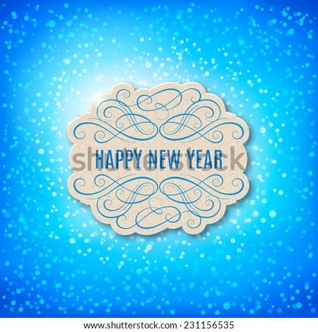 Vector  Happy New Year card design.  - stock vector