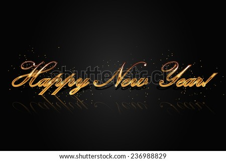Vector Happy New Year Greeting Card Stock Vector