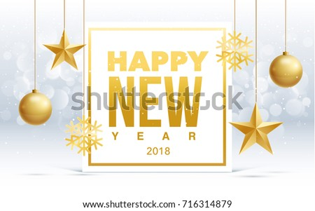 Vector Happy New Year 2018 Sale Stock Vector 716314876 - Shutterstock