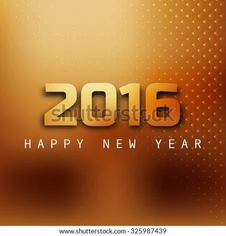 Vector Happy New Year 2016 text background - stock vector