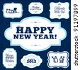 Vector Happy New Years Frame Set. Easy to edit. Perfect for invitations or announcements. - stock vector