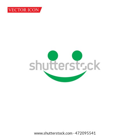 Vector Happy Smile Icon,Vector Illustration,Eps10