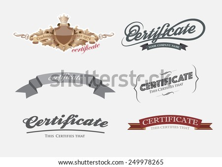 vector head certificate and element. - stock vector